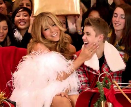 Mariah Carey and Justin Bieber in their music video together
