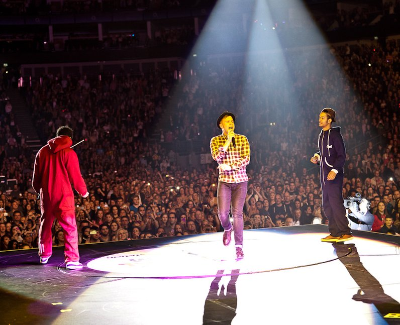 Olly Murs and Rizzle Kicks live at the 2011 Jingle Bell Ball