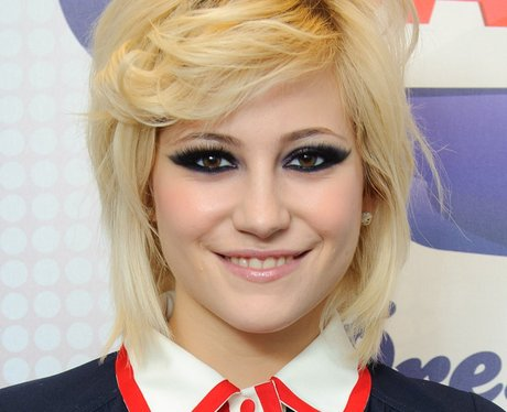 Pixie Lott backstage at the 2011  Jingle Bell Ball