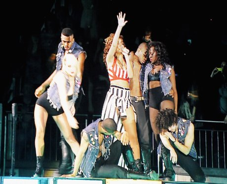 Rihanna live on stage