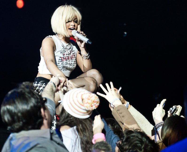 Rihanna live at the 2011 Jingle Bell Ball