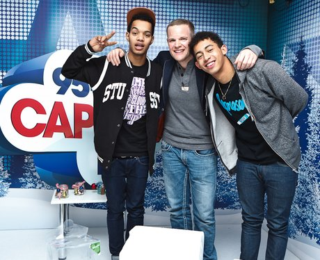 Rizzle Kicks backstage at the Jingle Bell Ball