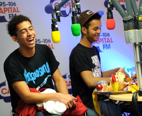 Rizzle Kicks backstage at the 2011 Jingle Bell Ball
