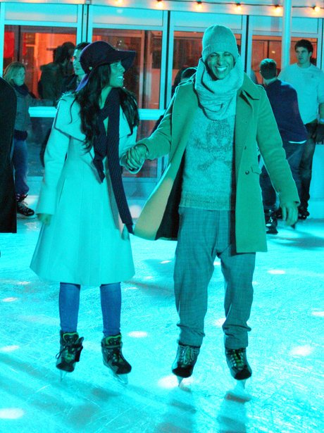 Rochelle and Marvin Ice-Skating