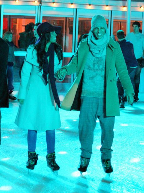 Rochelle and Marvin ice skating