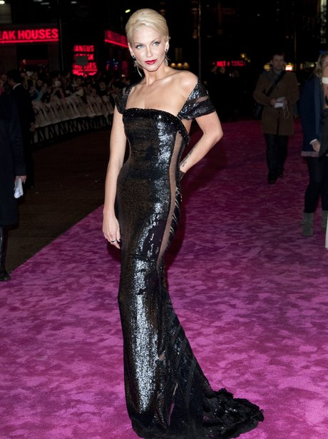 Sarah Harding on the red carpet