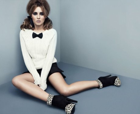 Cheryl Cole in a promotional shot for her new shoe range
