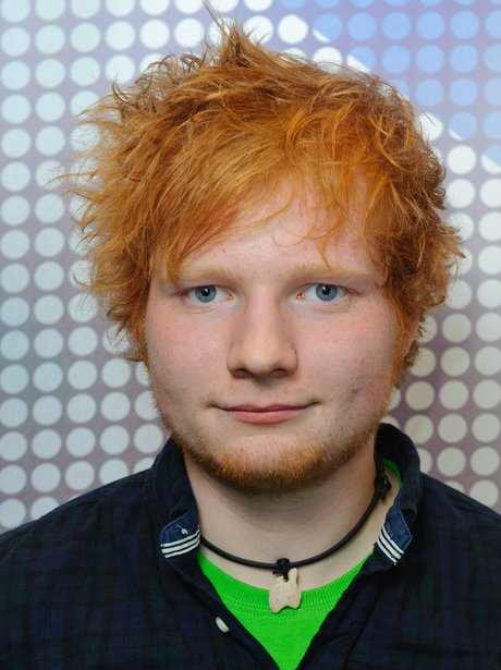 Ed Sheeran backstage at the 2011 Jingle Bell Ball