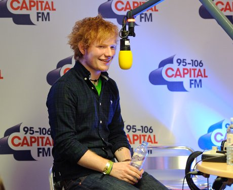 Ed Sheeran backstage at the 2011 Jingle Bell Ball