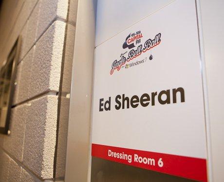 Ed Sheeran Dressing Room backstage At The 2011 Jingle Bell Ball
