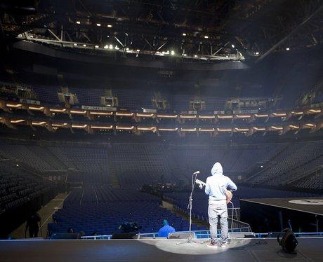 Ed Sheeran Rehearsing At The 2011 Jingle Bell Ball