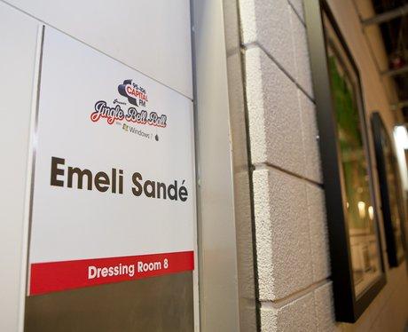 Emeli Sande's dressing room backstage At The 2011