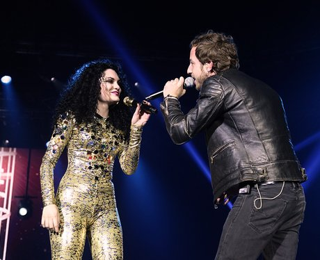 Jessie J with James Morrison live at the 2011 Jingle Bell Ball