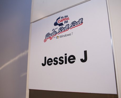 Jessie J's Dressing Room Backstage At The 2011 Jingle Bell Ball