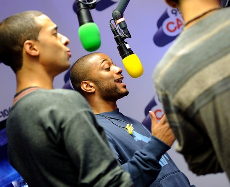 JLS backstage at the 2011 Jingle Bell Ball