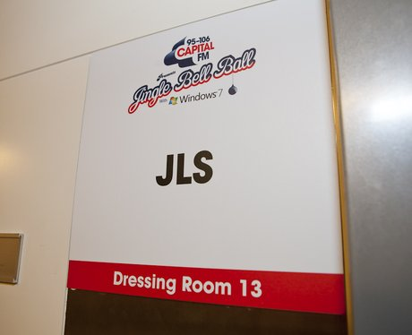 JLS Dressing Room backstage At The 2011 Jingle Bell Ball