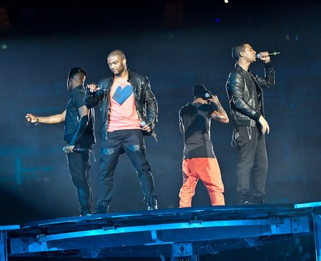JLS performing live at the 2011 Jingle Bell Ball at the O2 Arena