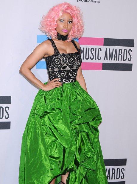 Nicki Minaj backstage