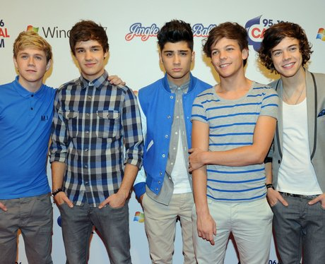 One Direction arrive at the 2011 Jingle Bell Ball