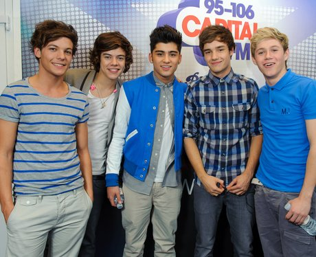 One Direction backstage at the 2011 Jingle Bell Ba