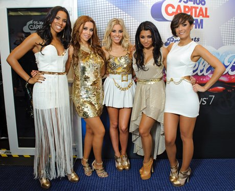 The Saturdays backstage at the 2011 Jingle Bell Ball