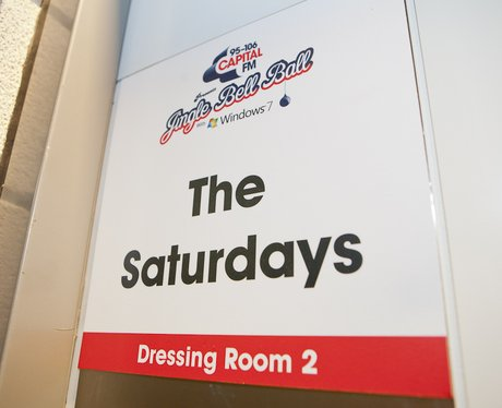 The Saturdays Dressing Room Backstage At The 2011