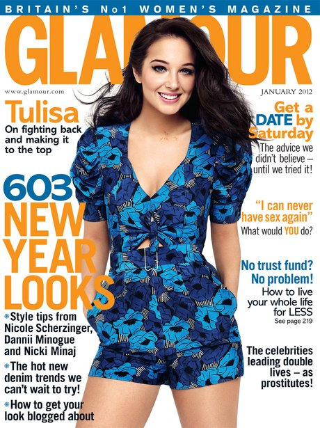 Tulisa in Glamour