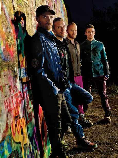 Coldplay promote their new album.