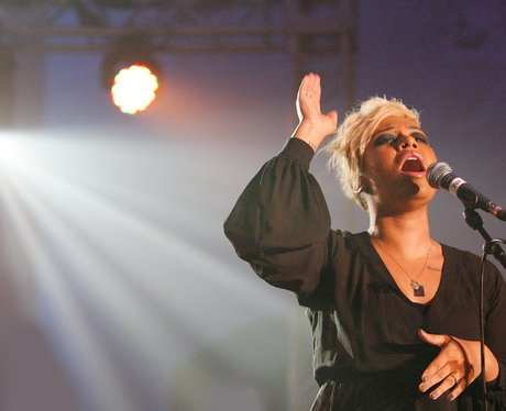 Emeli Sande sings on stage