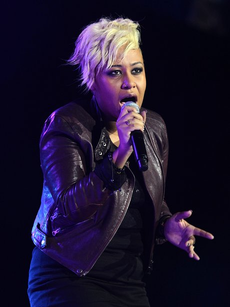 Emeli Sande performs on stage