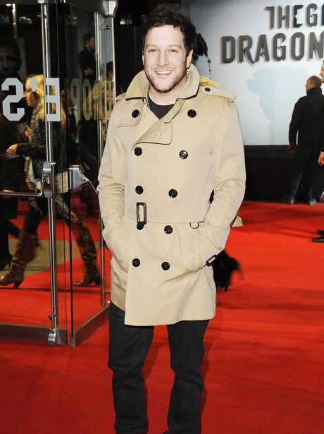 """Matt Cardle at premiere of """"the Girl With The Dragon Tattoo"""""""
