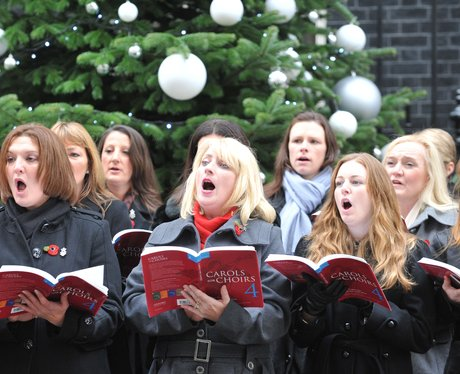 Military Wives outside Downing Street singing their choir song 'Wherever You Are'