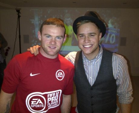 Olly Murs with Wayne Rooney
