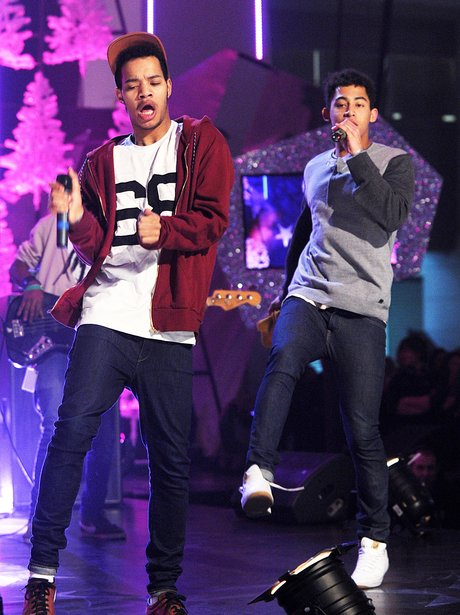 Rizzle Kicks perform live on stage.