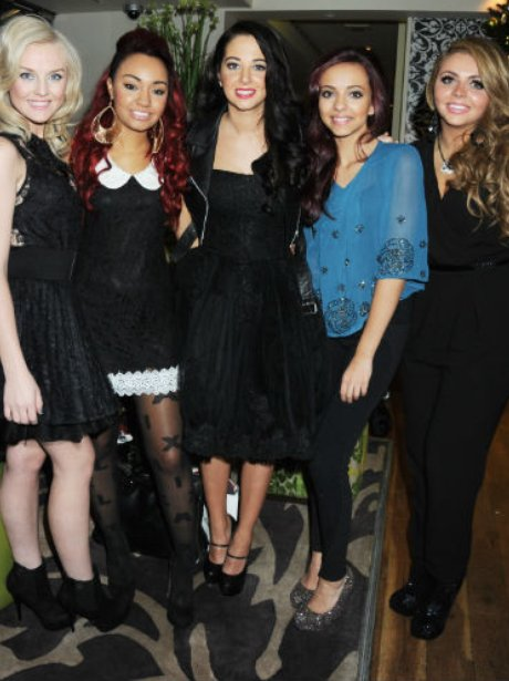 Tulisa and Little Mix have dinner in London