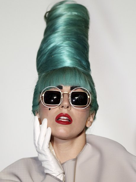 Lady Gaga Blue Hair