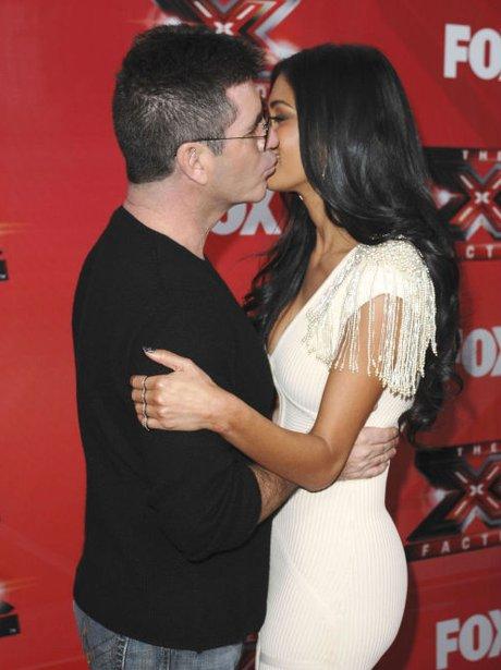 Nicole Scherzinger and Simon cowell kissing