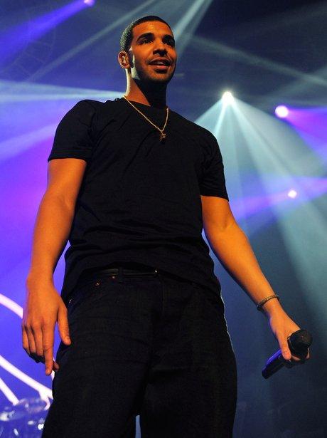 Drake performs on stage