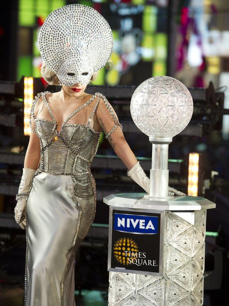 Lady Gaga at Time Square on New Years eve