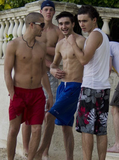 The Wanted on holiday in Barbados