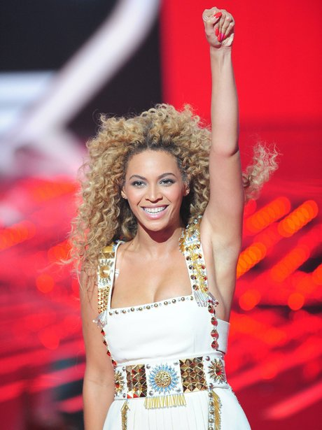 Beyonce live on stage