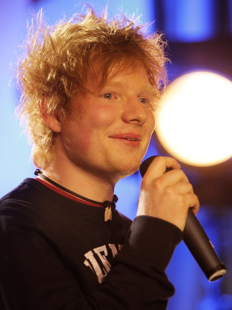 Ed Sheeran performs live