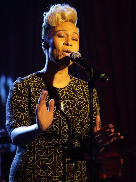 Emeli Sande live at the BRIT Awards 2012 nominations