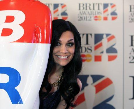 Jessie J  backstage at the BRIT 2012 Awards Nomina