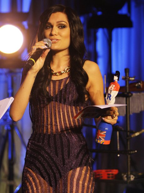 Jessie J on stage at the 2012 BRIT Awards Nominations