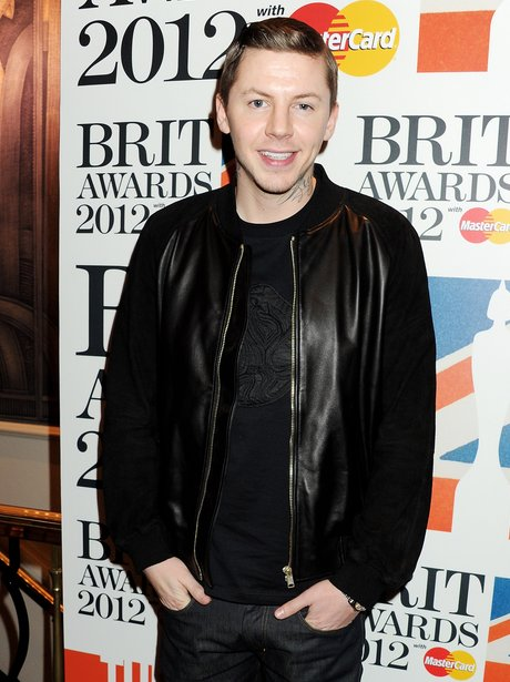 Professor Green at the BRIT Awards 2012