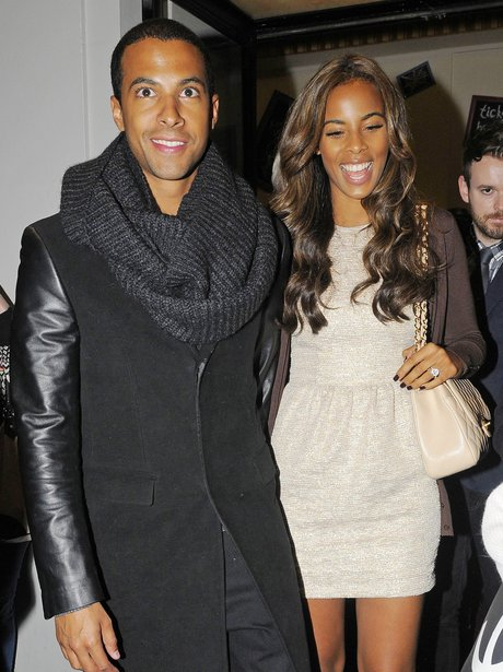 Rochelle Wiseman and Marvin Humes on a night out