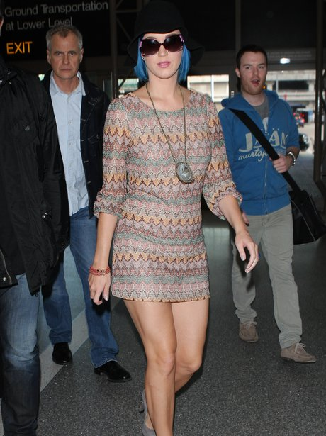 Katy Perry leaves LAX airport