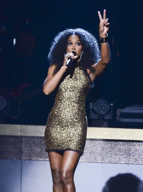 Kelly Rowland performs on stage