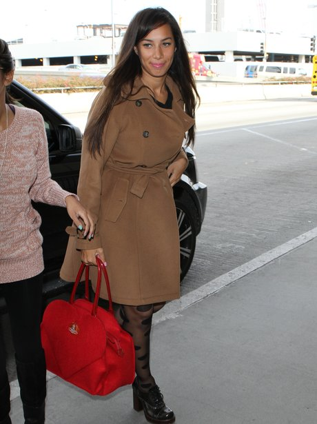Leona Lewis arriving at LAX airport